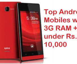 top mobiles with 3GB RAM under rs.10000