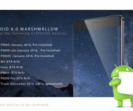 Elephone Android 6.0 Marshmallow list