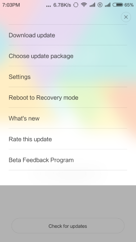 Updater App Choose Update package