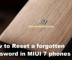 MIUI 7 reset a forgotten password pin pattern
