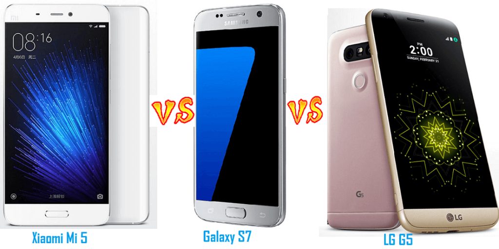 Xiaomi Mi 5 vs Samsung Galaxy S7 vs LG G5