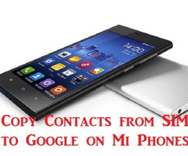 copy contacts xiaomi phones