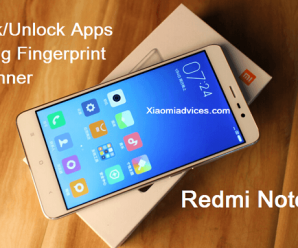 redmi note 3 lock apps fingerprint scanner