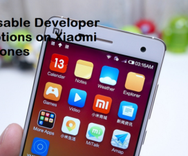 Disable developer options Xiaomi miui