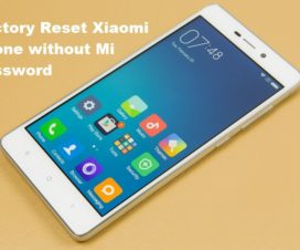 factory reset xiaomi phone without Mi password