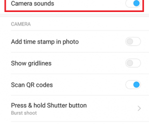 Disable Camera Sound MIUI 8 2