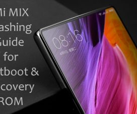 Xiaomi Mi Mix flash fastboot recovery rom