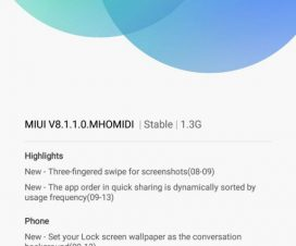 Xiaomi Redmi Note 3 MIUI 8.1.1.0.MHOMIDI Android 6.0 Marshmallow download