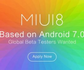 MIUI 8 Global beta update based on Android N