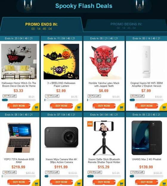 GearBest Halloween Party sale2