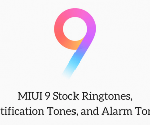 MIUI 9 ringtones notification tones