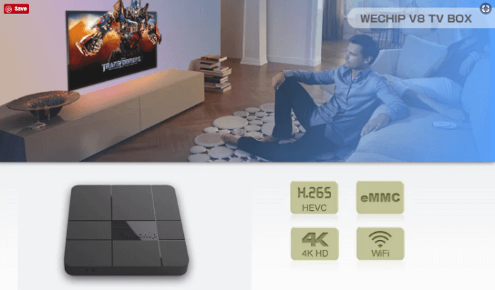 Wechip v8 android tv box1