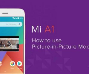 Xiaomi Mi A1 Picture in Picture mode